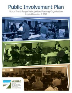 Cover of Public Involvement Plan with three pictures public meetings