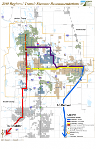 Map of Regional Transit Element Recommendations
