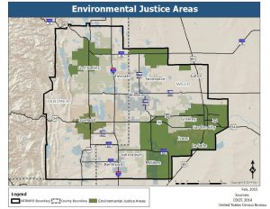 Map of environmental justice areas