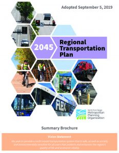 Cover of 2045 RTP Summary Brochure