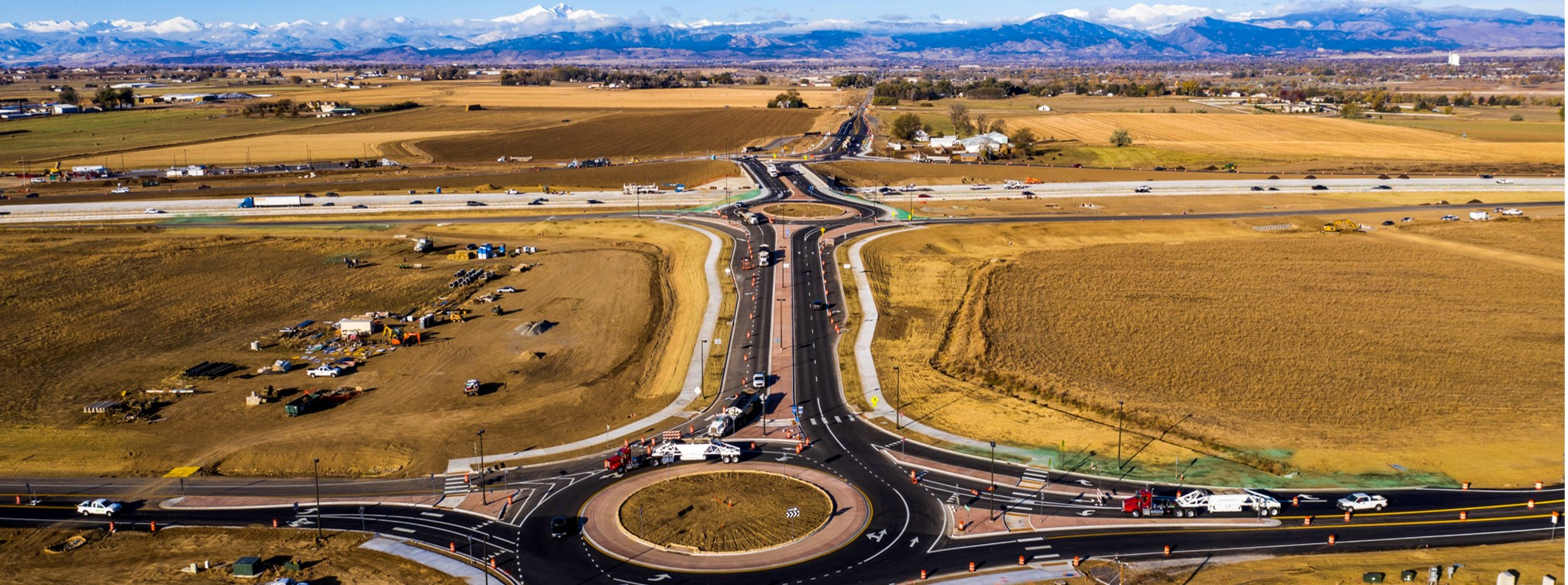 State Highway 402 Roundabouts. Image Credit: CDOT
