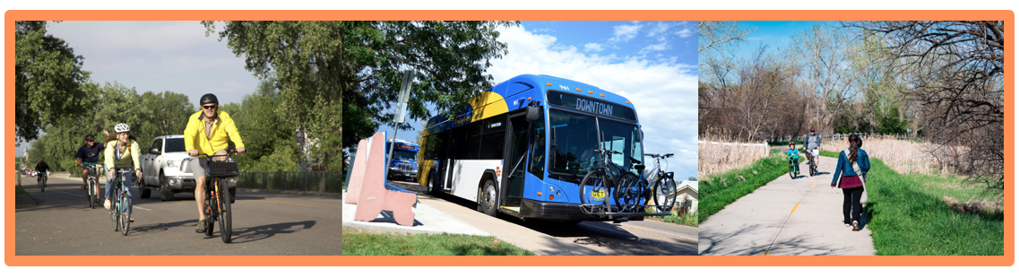 Greeley Evans Transit Bus with bikes