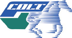 Logo for COLT with blue horse