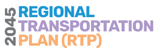 Draft 2045 RTP logo with text