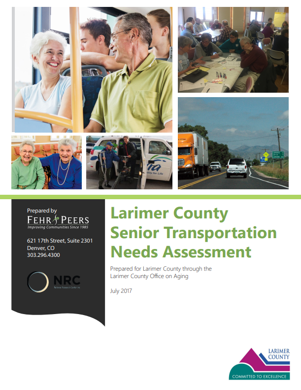 Larimer County Senior Transportation Needs Assessment Cover