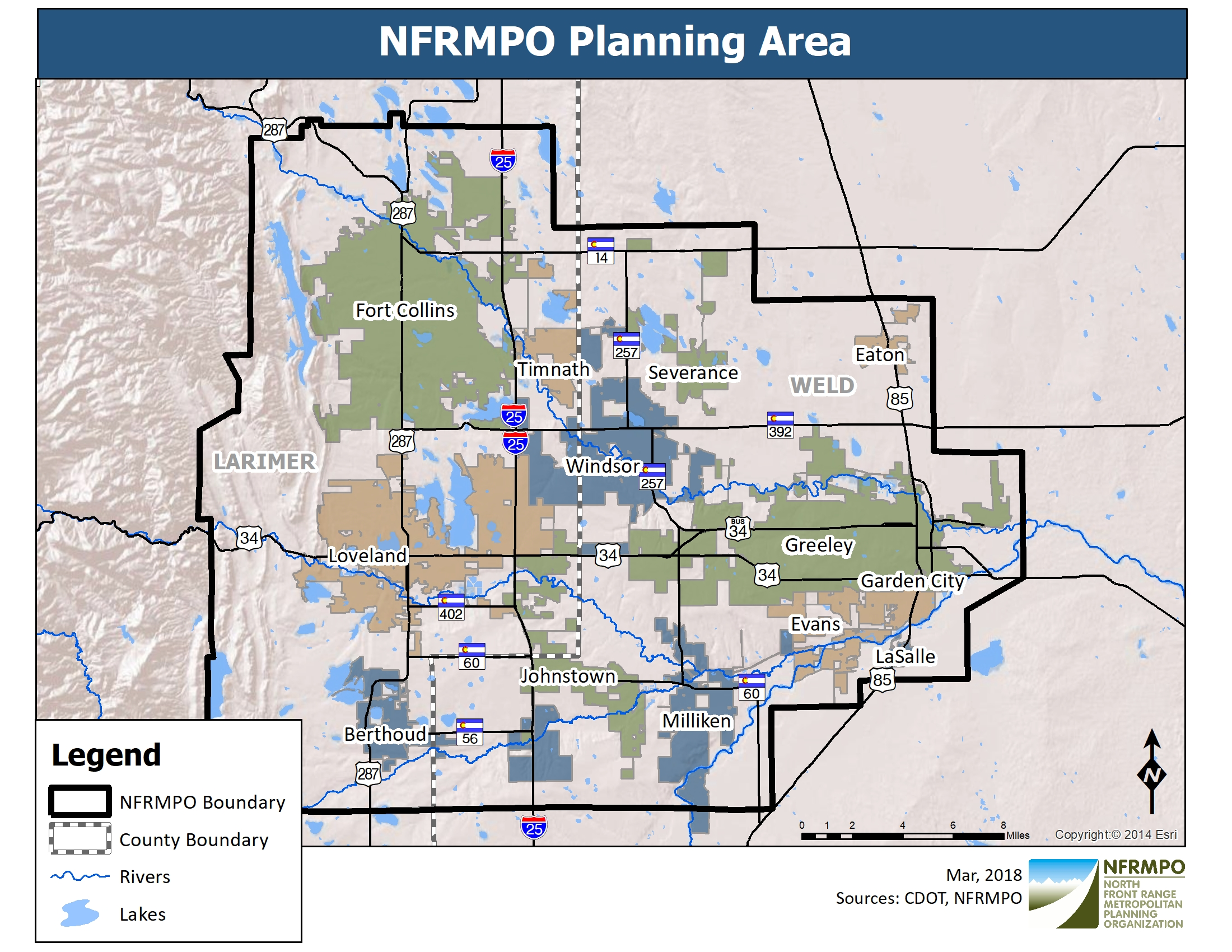 NFRMPO Planning Boundary Area