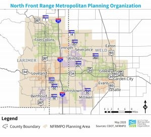 Map of NFRMPO Planning Area