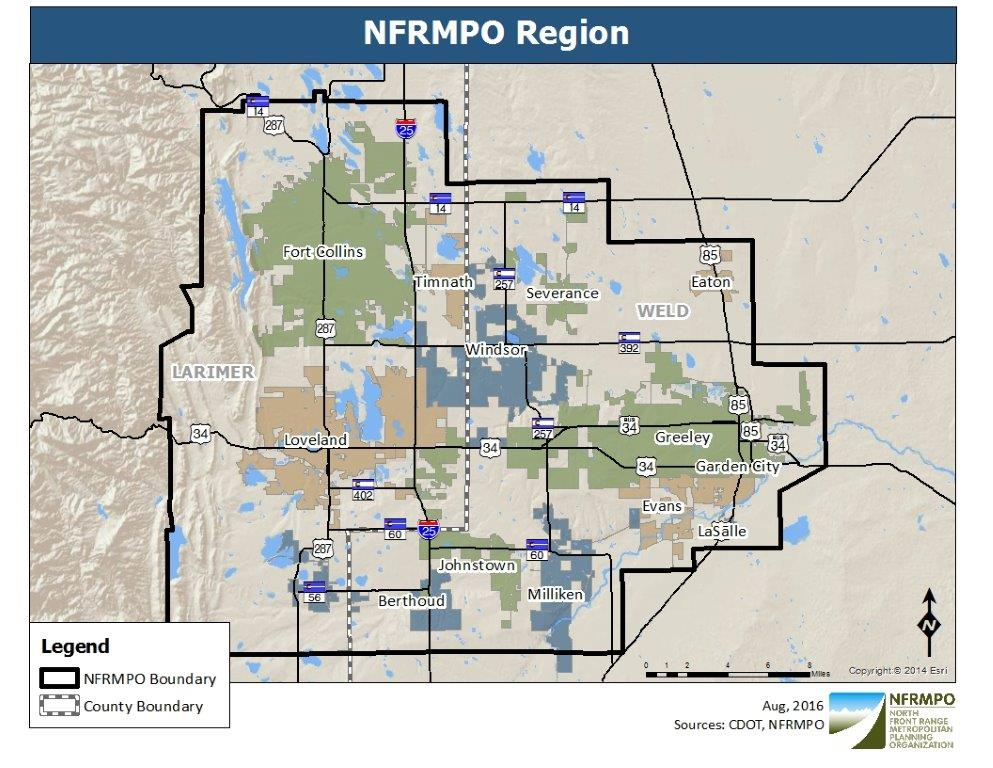 Maps & GIS - NFRMPO Cdot Region Map on