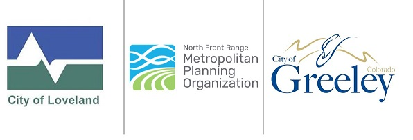 Logos of City of Greeley, City of Loveland, and NFRMPO