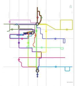 Transfort service map